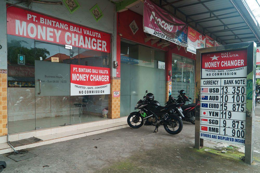 Фото обменного пункта на Бали
