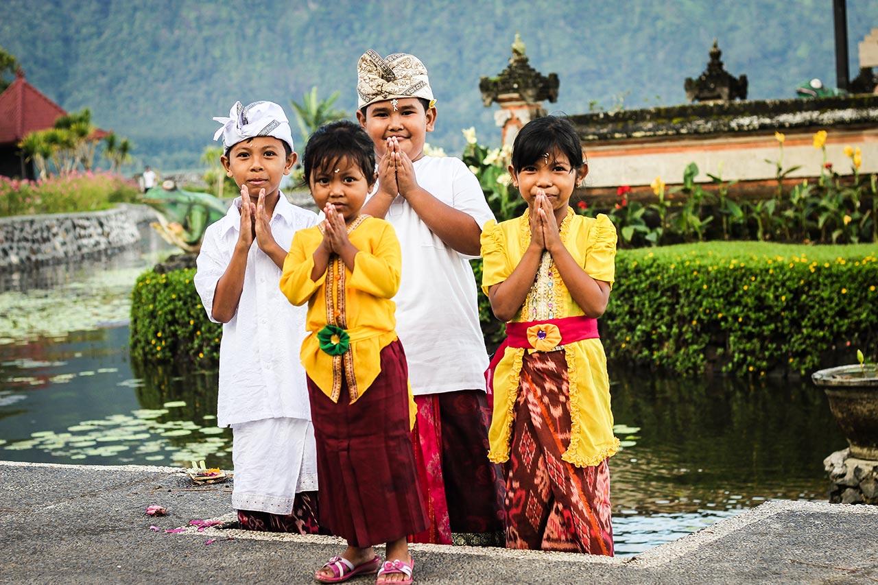 Фото детей на Бали