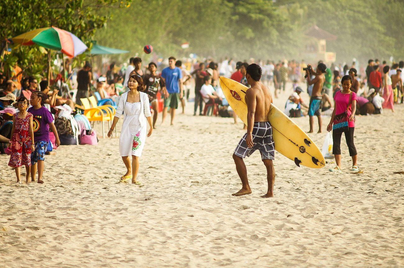 На Бали много отдыхающих
