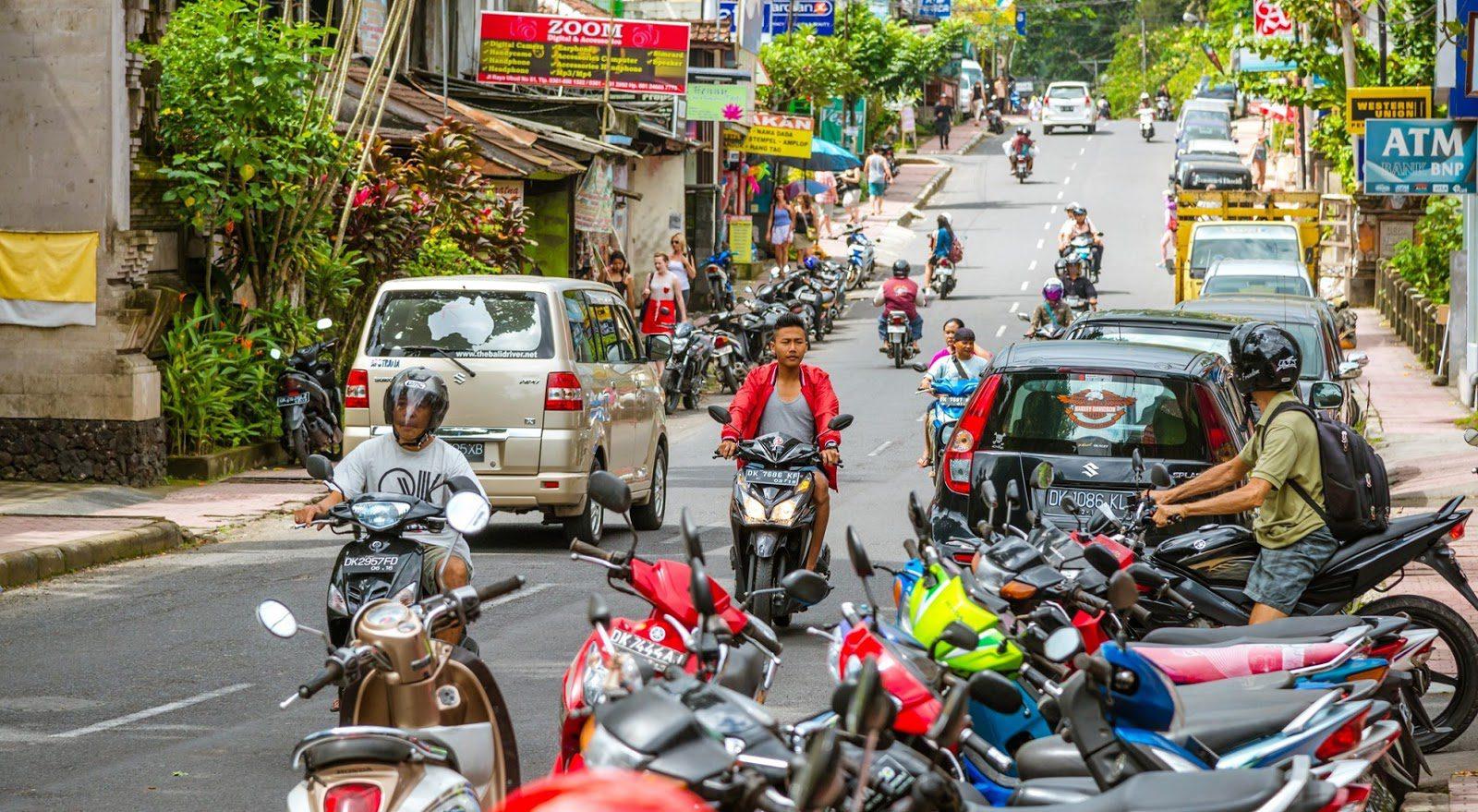 Парковка на Бали стоит дорого