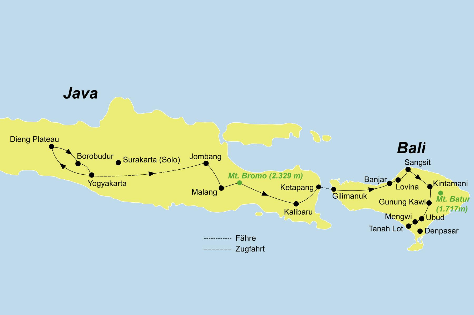 Путь от Бали до Явы
