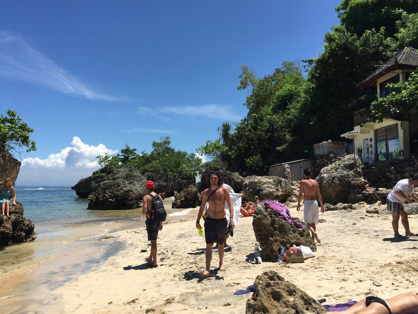 Купание на пляже