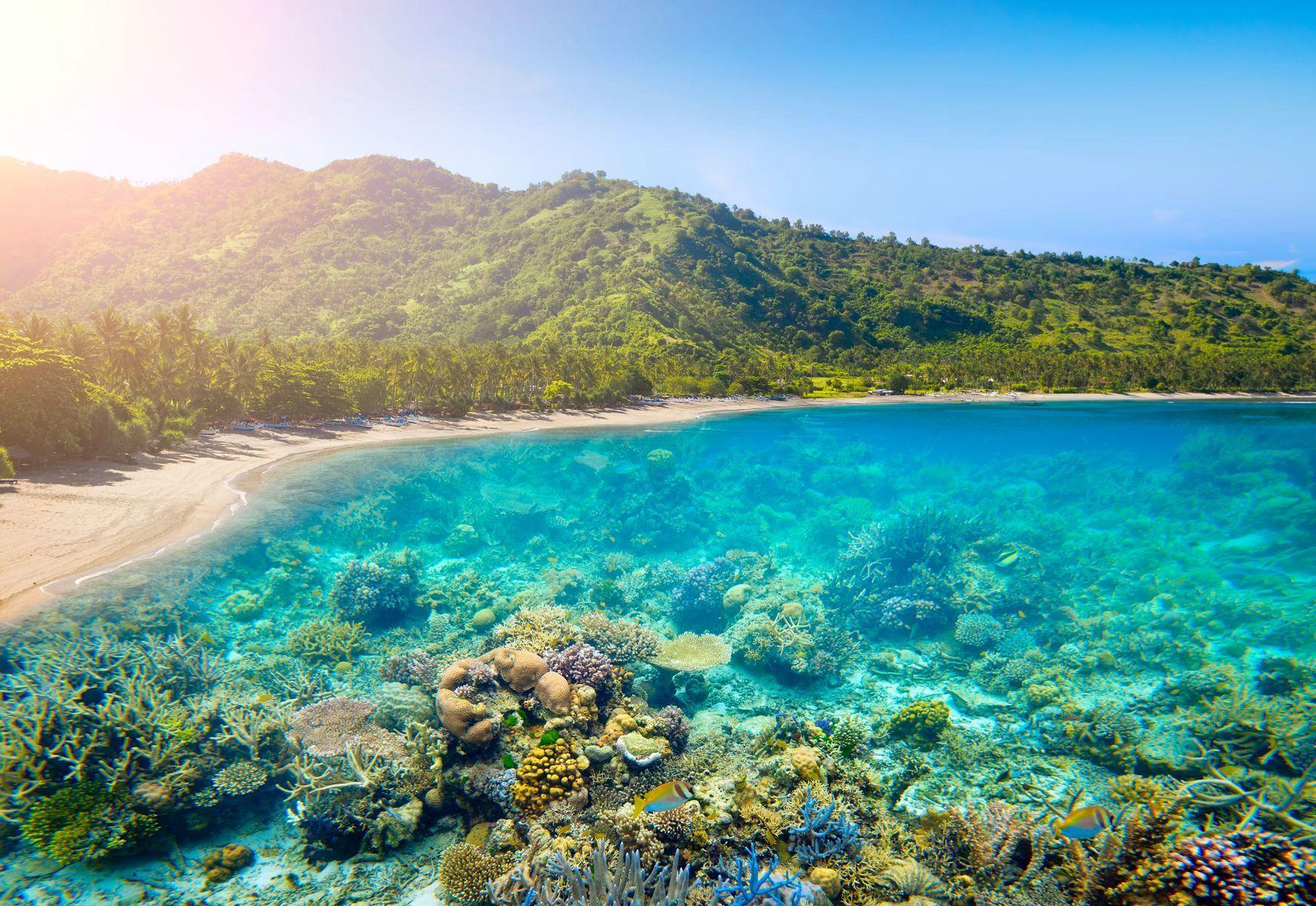 Пляж Голубая Лагуна на Бали