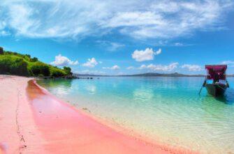 Фото розового пляжа