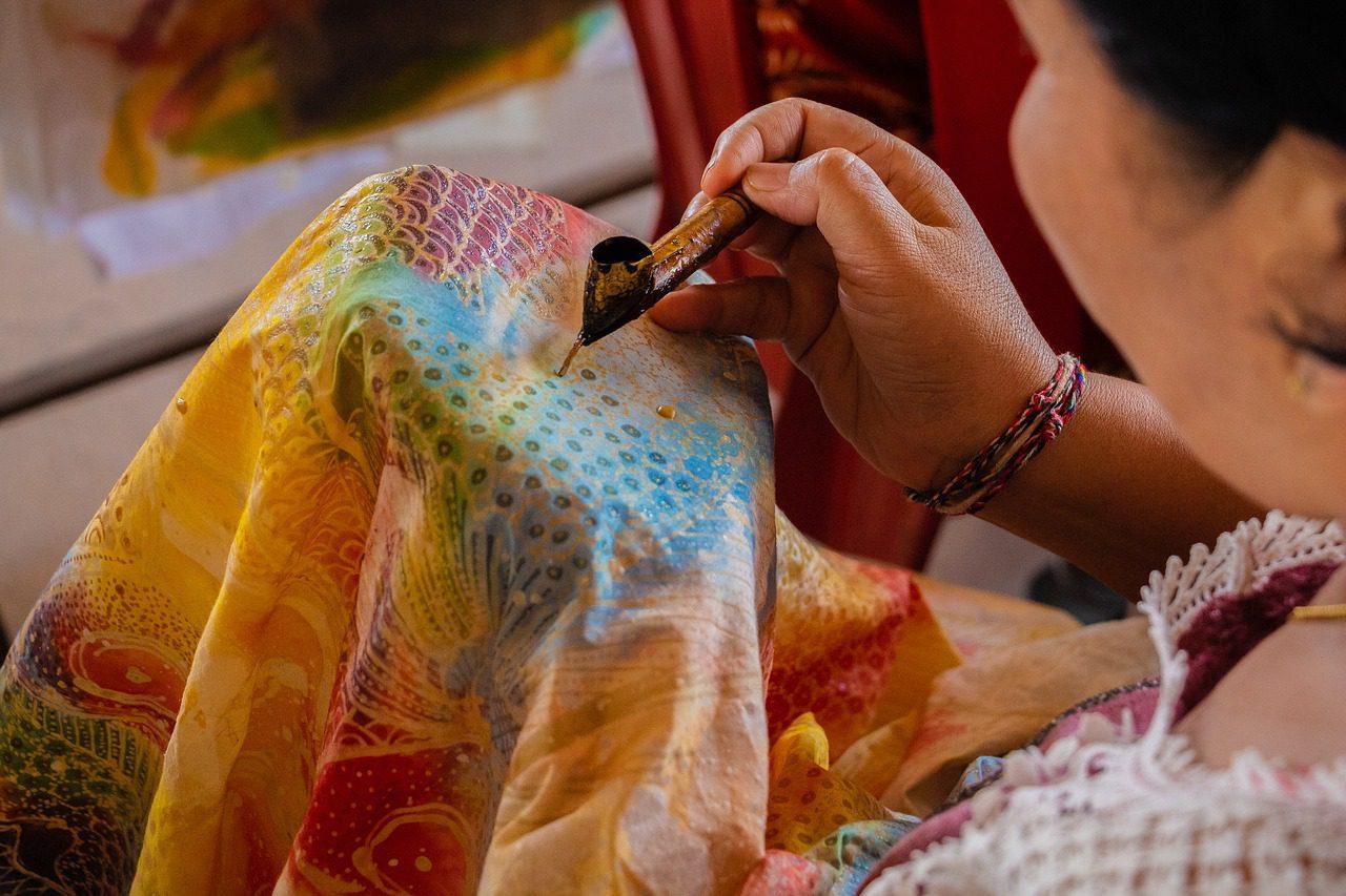 Фото окрашивания ткани