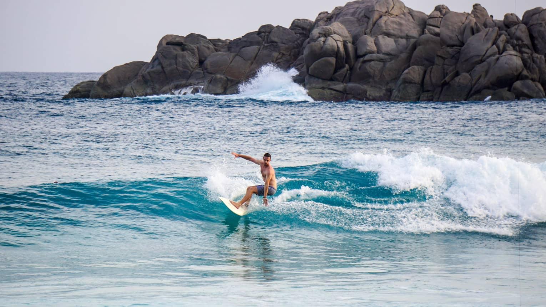 Фото серфинга на Сейшелах